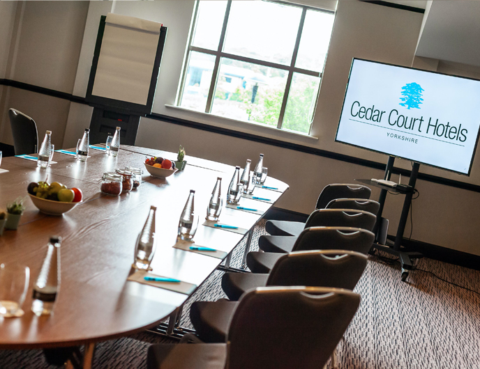 Cedar Court Hotels Bradford Meeting room whiteboard