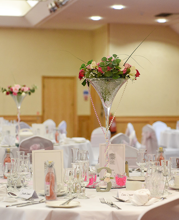 <Wedding table center piece