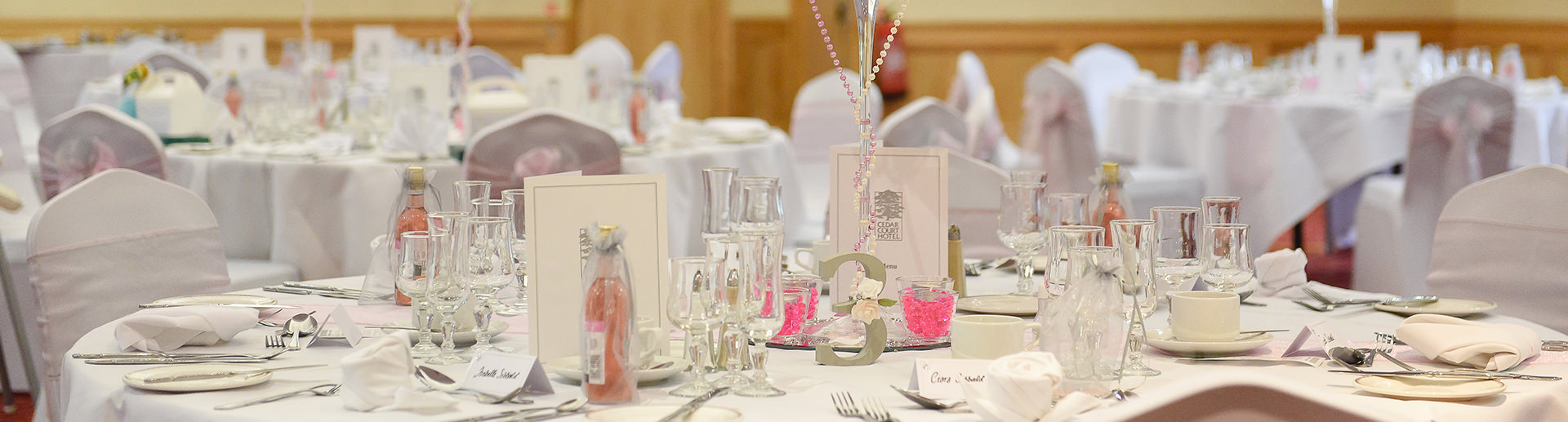 Wakefield wedding table decorations